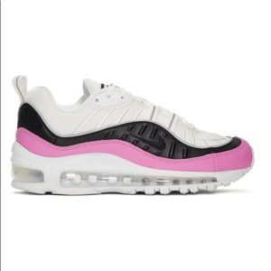 NEW Nike Air Max 98 SE White & Pink Sneakers Sz 6
